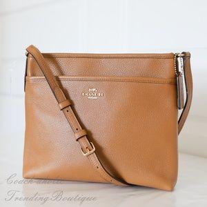 Coach F28035 Pebble Leather Crossbody File Bag